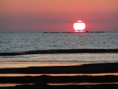 天神崎の夕陽